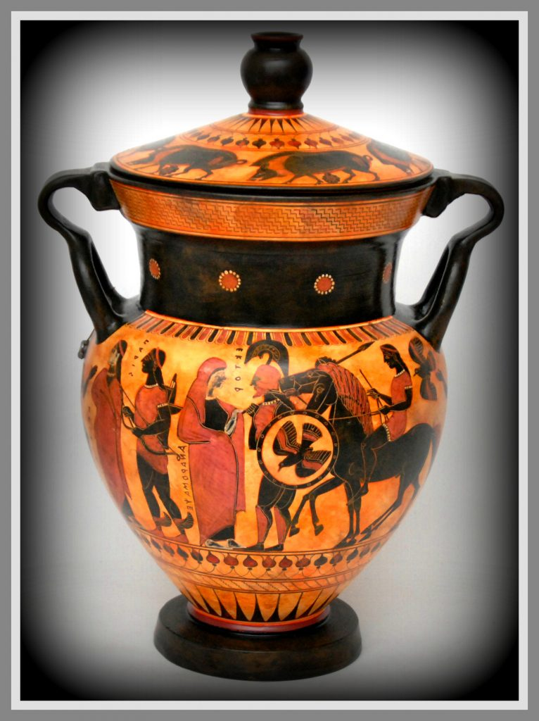 Greek policrome ceramic.