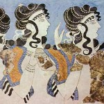 <wbr>The three dancers. <wbr>More recent <wbr>Minoan period