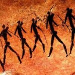 Mesolithic human representation in painting