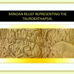 Minoan relief showing the games with bulls.