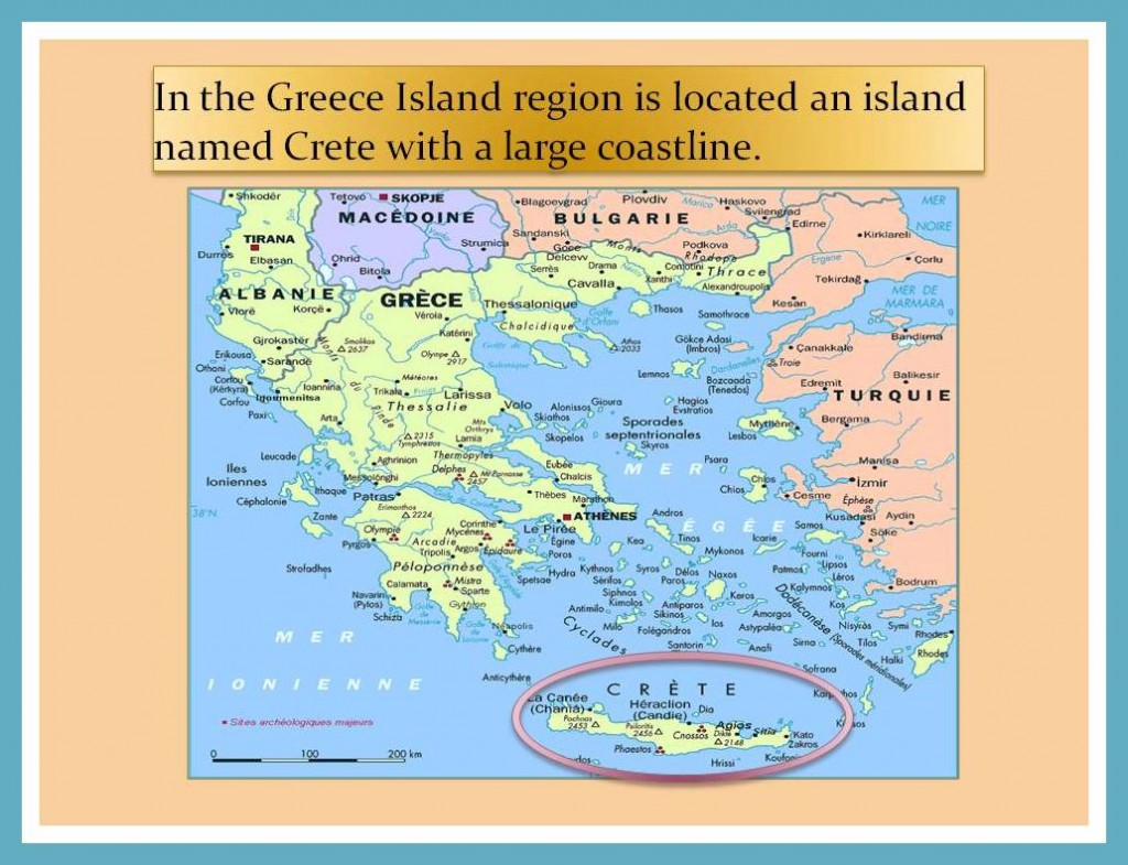 Location of Crete Island. Minoan Culture