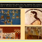 Images of woman representation in the Minoan art.