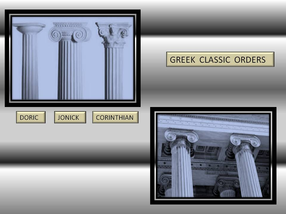 Greek architecture Classic order of colunms