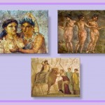The erotic painting with explicit sexual theme