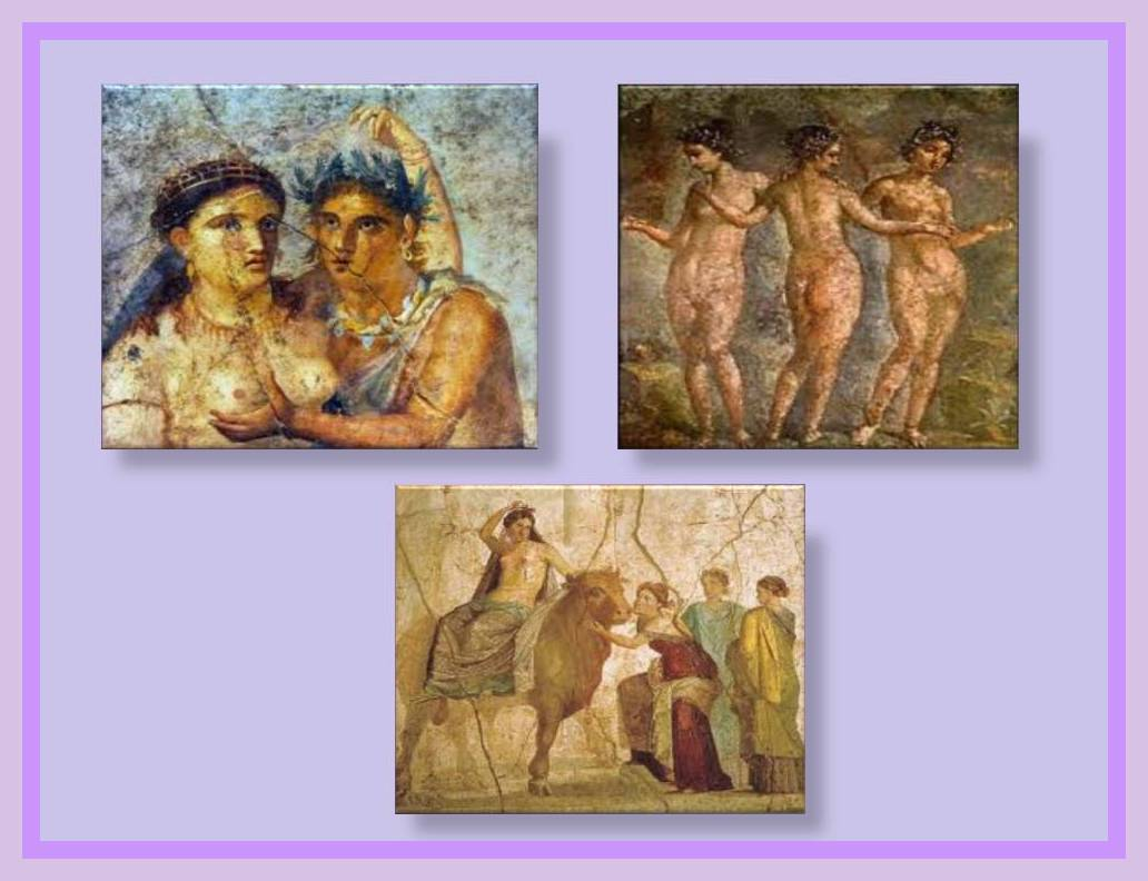 Ancient erotic art painting