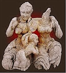 Woman and Child. Mycenaean statue