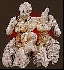 Woman and Child. Mycenaean statue