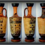 lekythos. Greek pottery for storing oil