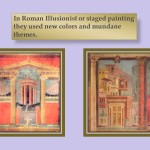 Roman ilusionist or staged painting