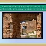 Roman uses of concrete and bricks