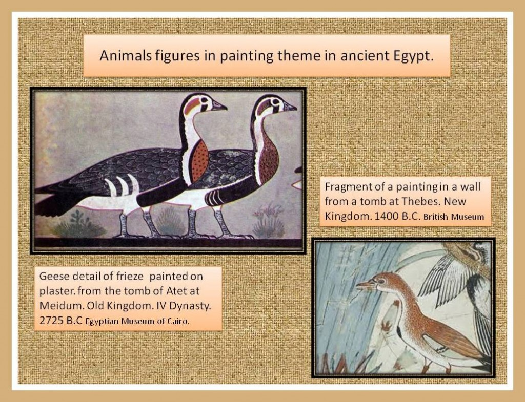 Egyptian's animal figures in painting