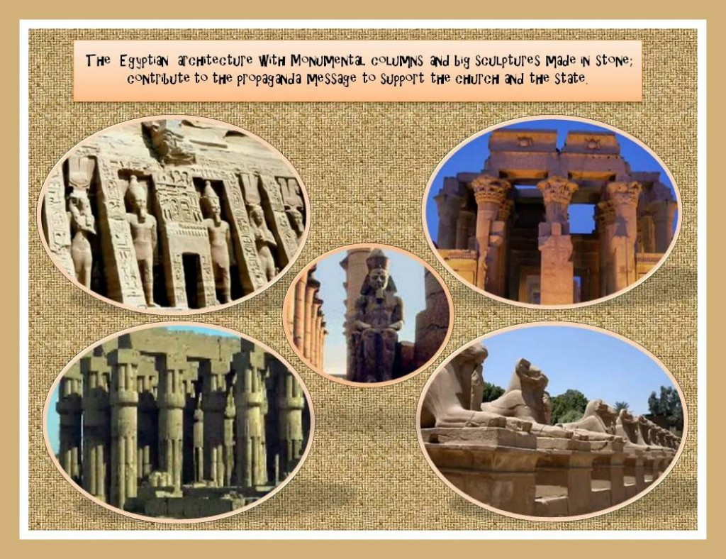 Egyptian Columns and sculptures