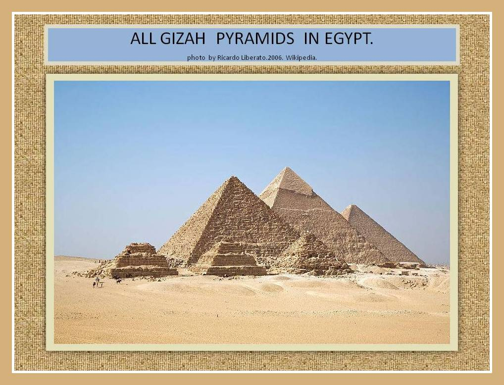 All Gizah pyramids in Egypt