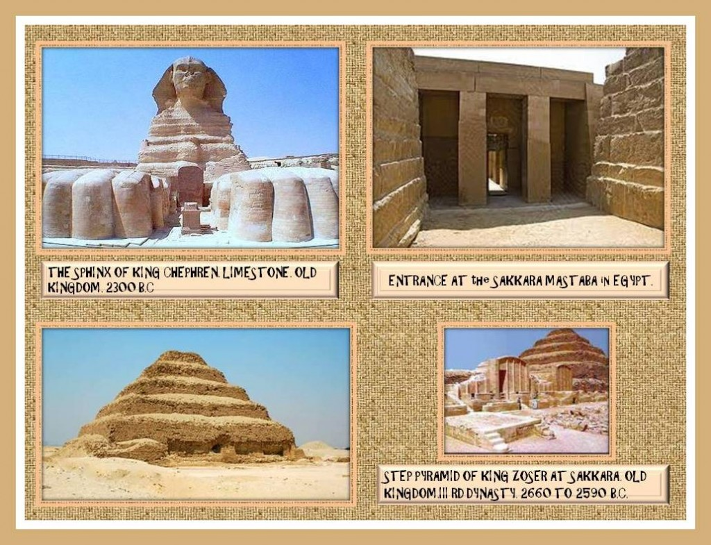 Old Egyptian monuments.