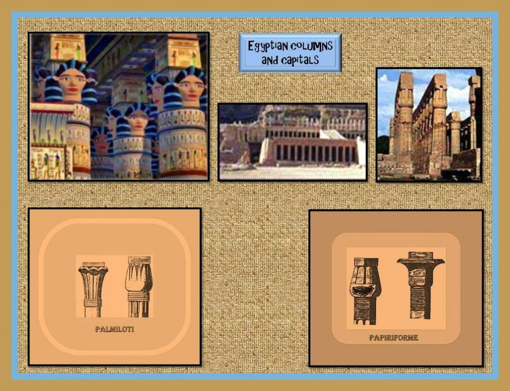 Egyptian columns and capitals