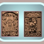 Byzantine relief with religious themes