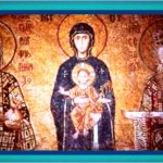 virgen and the child with king and queen