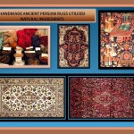 Handmade Ancient Persian Rug natural elements