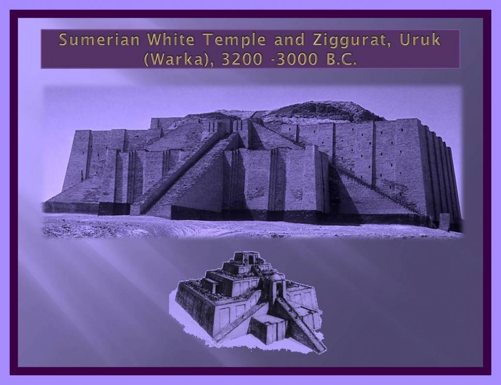 Sumerian white Temple and Ziggurat, Uruk