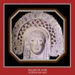 Relief representing Juno. Etruscan scuplture,