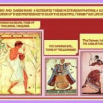 Etruscan painting depicted scenes of music and dancing