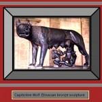 Etruscan Capitoline Wolf bronze sculpture