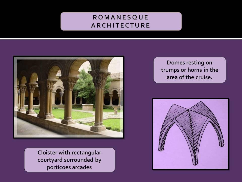 Comun architectural elements in Romanesque Architecture.