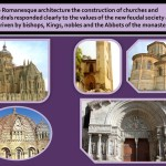 The Romanesque architecture responded to the feudal sociaty.