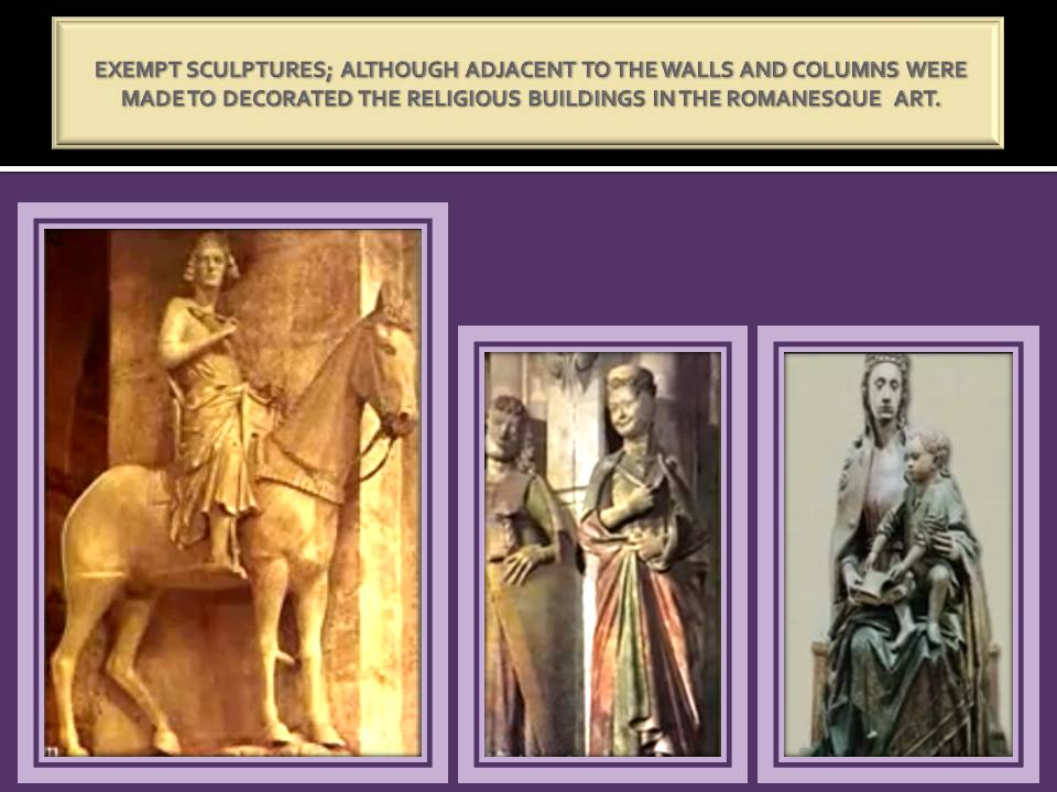 Excempt sculptures in Romanesque Art