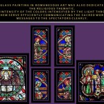Glass painting in romanesque art
