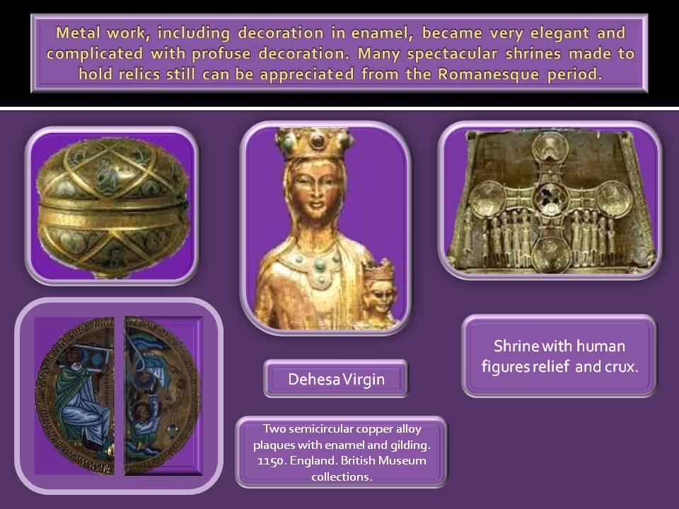 Romanesque art shrine and relics