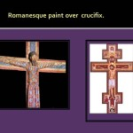 Romanesque paint over crucifix.