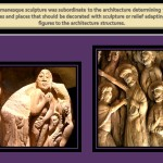 The figures scupture were adapted to the architecture spaces in Romanesque Art.