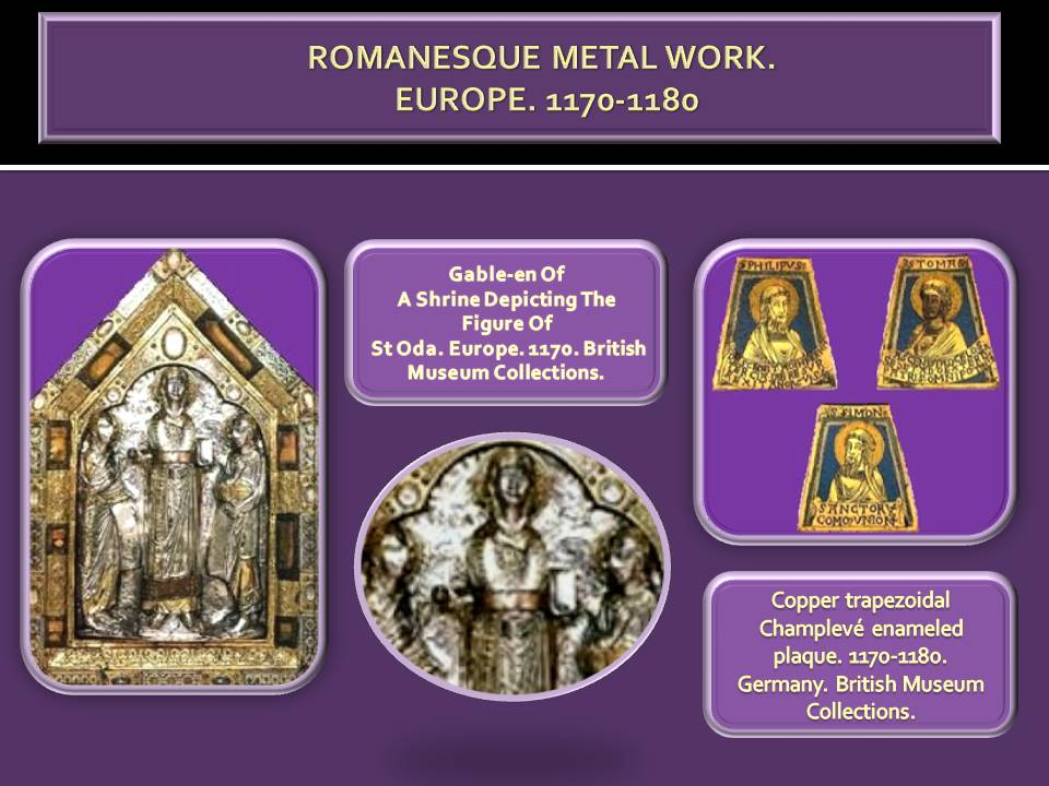 Romanesque metal work art history summary periods and