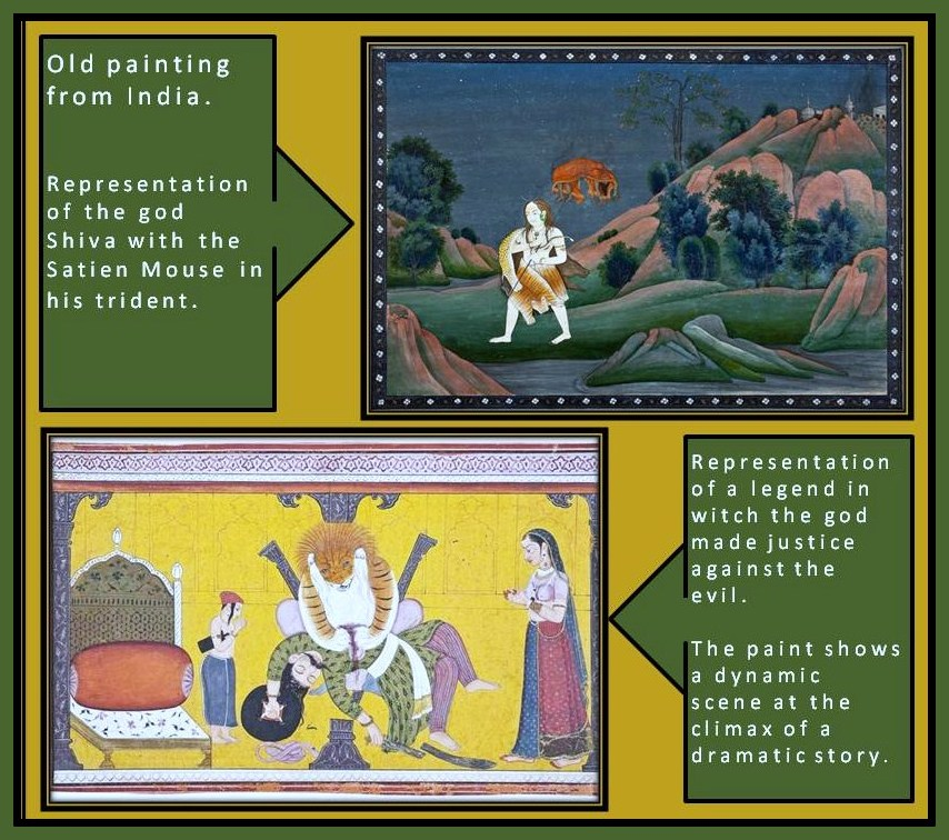 Representation of Divine legend in Hindu art.