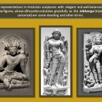 Female representation in Hinduism sculpture with the Tribhanga.
