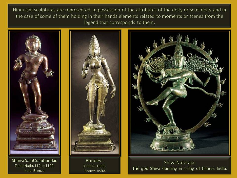 Hinduism sculpture and representation of symbolism.