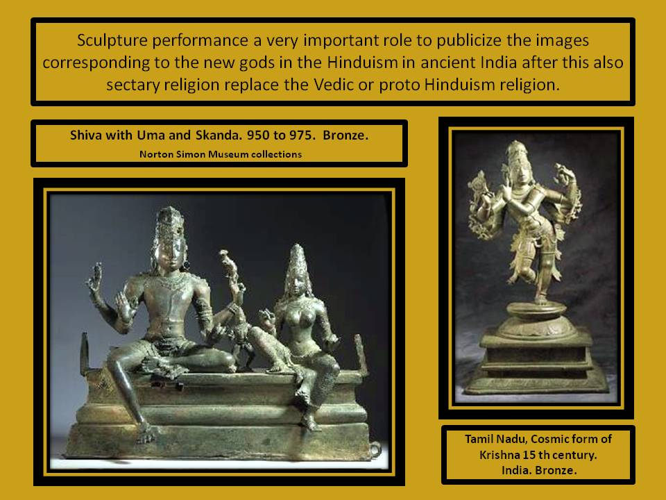 Sculpture play an important role in creed transition en India