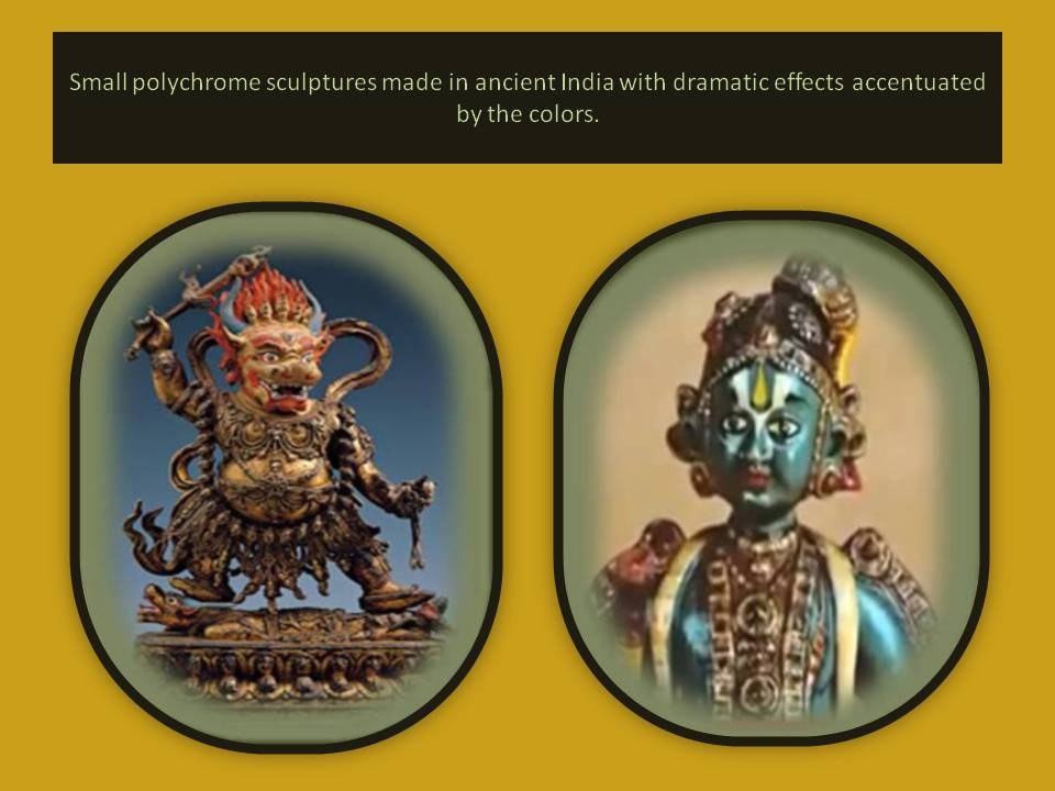 Small polychrome sculptures from India