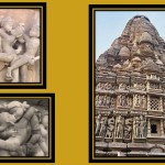 sculptures in the outer walls of the temples in <wbr>Khajuraho.