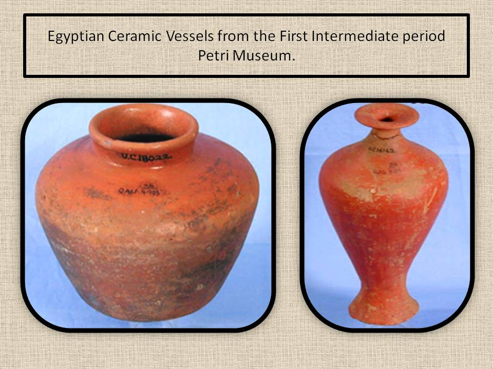 Intermidiate Period Potteries. Egypt.