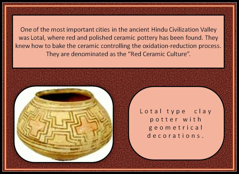 Ceramic of Lotal. Hindus Valley