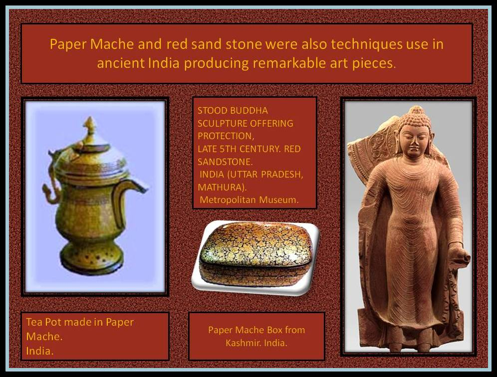 Sand stone and Paper Mache objects from India