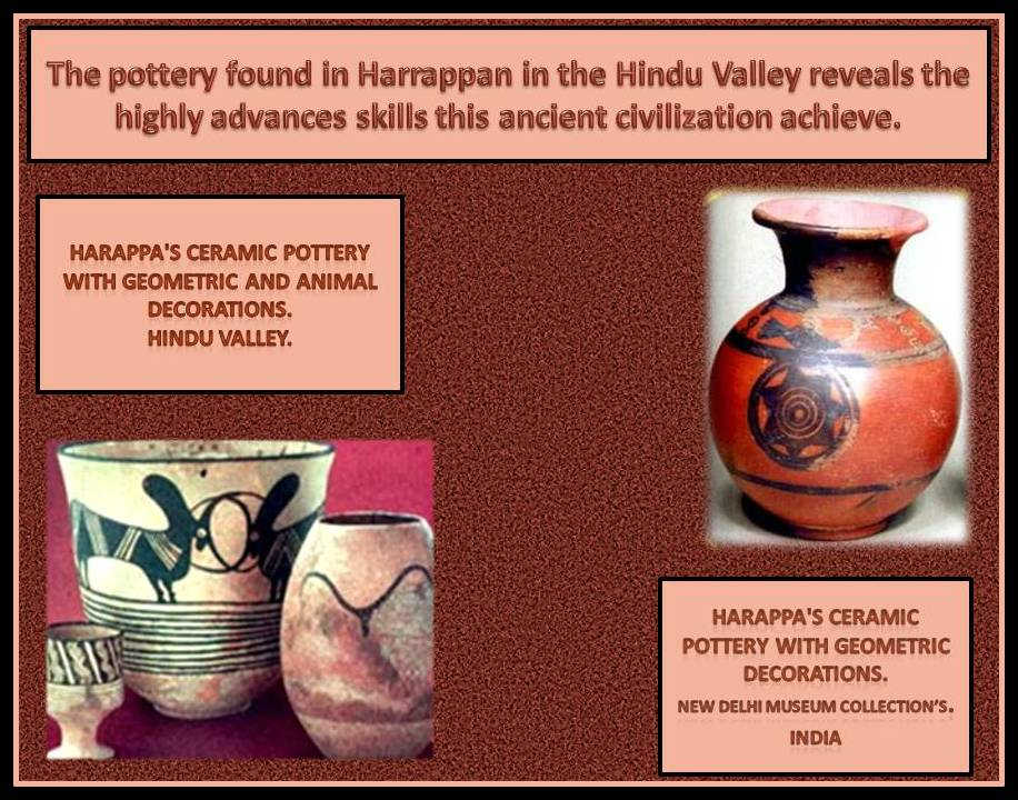 Decorated ceramic from ancient India