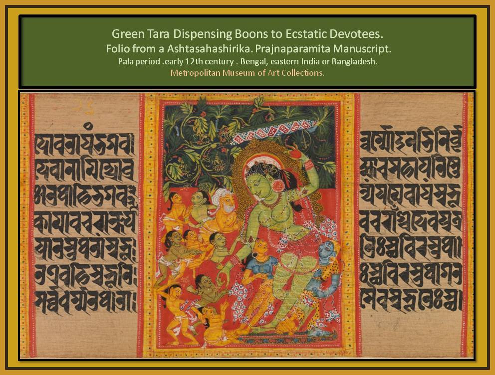 India paint representing Boons dispensed by Green Tara