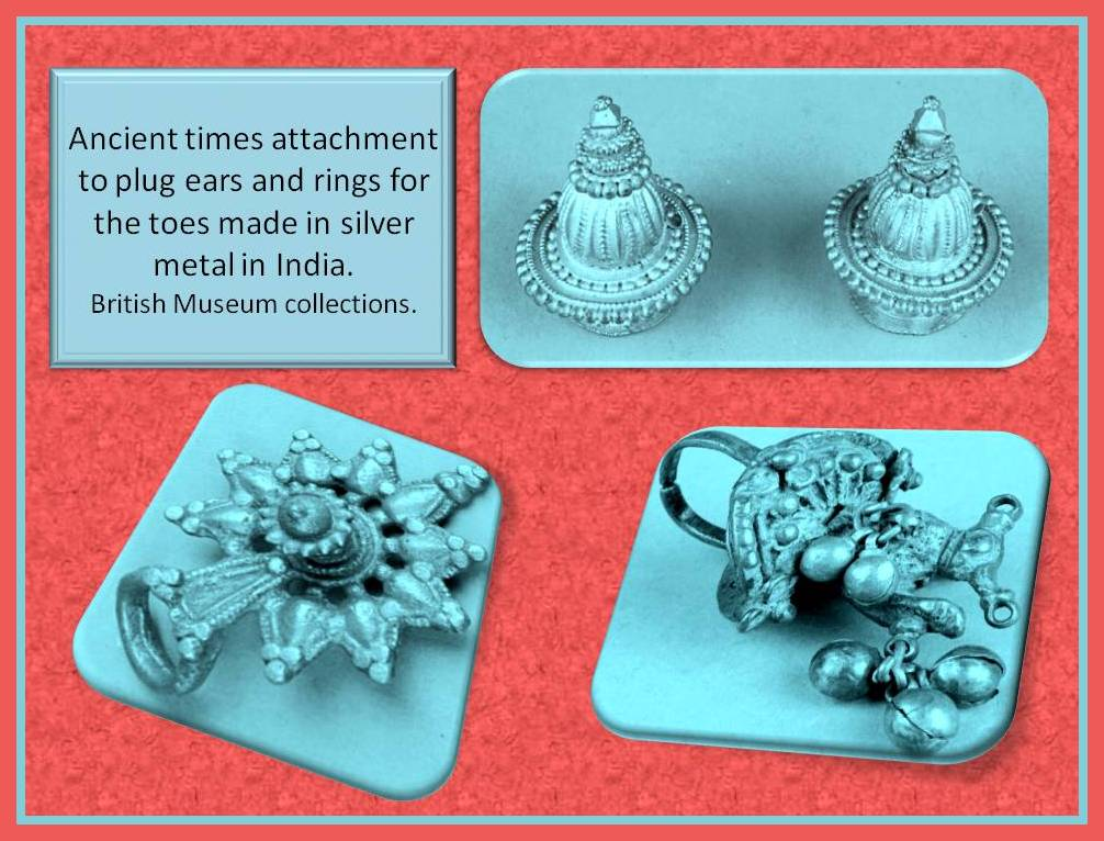 India silver ancient adornements