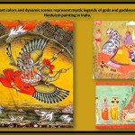 hinduism mystic legends representation in paints