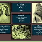 Celts culture stone scuptures.