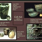 Ancient Celts metal artifacts.