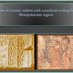 Mesopotamian clay tablet containing list.